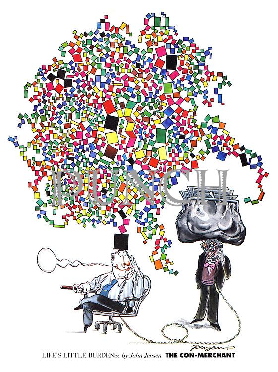 Life's Little Burdens by John Jensen: The Con-Merchant