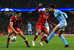 Leroy Sane of Manchester City takes on Trent Alexander-Arnold of Liverpool - Mandatory by-line: Matt McNulty/JMP - 10/04/2018 - FOOTBALL - Etihad Stadium - Manchester, England - Manchester City v Liverpool - UEFA Champions League Quarter Final Second Leg