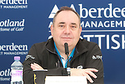 The Aberdeen Asset Management Scottish Open Golf Championship 2012 At Castle Stuart Golf Links..Final Round Saturday 14-07-12.. . Press conference on the Future of the Scottish Open,  with First Minster Alex Salmond,  George O' Grady of The European Tour, Martin Gilbert Chief Exec of Aberdeen Asset management and Roger Conrhill of Aberdeen Asset Managent,, during the FinalRound of The Aberdeen Asset Management Scottish Open Golf Championship 2012 At Castle Stuart Golf Links. The event is part of the European Tour Order of Merit and the Race to Dubai....At Castle Stuart Golf Links, Inverness, Scotland...Picture Mark Davison/ ProLens PhotoAgency/ PLPA.Saturday 14th July 2012.
