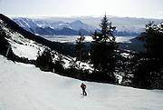 Spring skiing at Mt Alyeska Resort in Girdwood, Alaska.