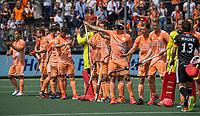 AMSTELVEEN - Team Nederland , line up,  EK hockey, finale Nederland-Duitsland 2-2. mannen.  Nederland wint de shoot outs en is Europees Kampioen.  COPYRIGHT KOEN SUYK