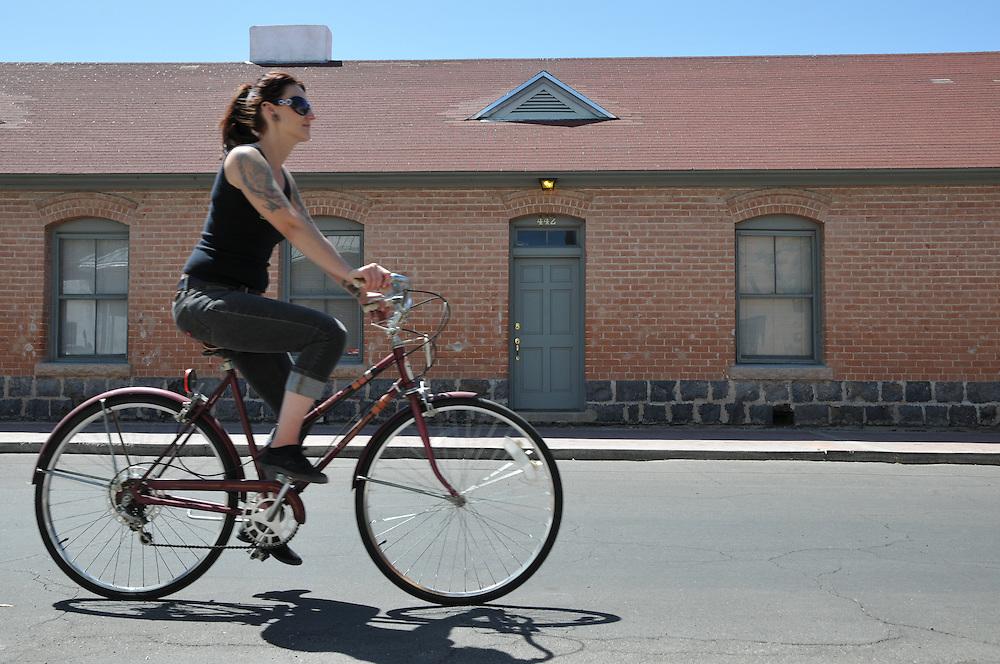 Rider on Convent Avenue during Cyclovia 2013. Bike-tography by Martha Retallick.