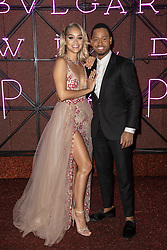 Jasmine Sanders, Terrence J attend the Bvgalri Gala Dinner held at the Stadio dei Marmi in Rome, Italy on June 28, 2018. Photo by Marco Piovanotto/ABACAPRESS.COM
