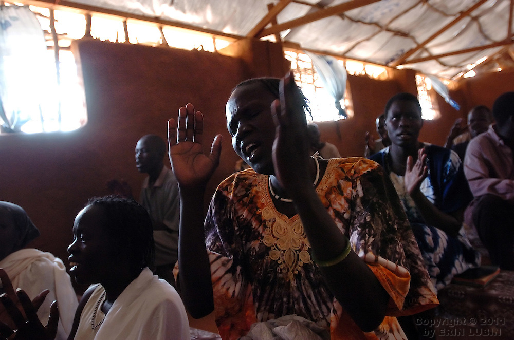 Members of the Gambella community from Ethiopia attend service at their church, the God Help Christian Fellowship Church, inside Ifo Refugee Camp, Dadaab, Kenya September 15, 2006. ..Photograph by Erin Lubin