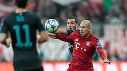 04.11.2015, Allianz Arena, Muenchen, GER, UEFA CL, FC Bayern Muenchen vs FC Arsenal, Gruppe F, im Bild v.l.: Santi Cazorla (FC Arsenal), Arjen Robben (FC Bayern) // during the UEFA Champions League group F match between FC Bayern Munich and FC Arsenal at the Allianz Arena in Munich, Germany on 2015/11/04. EXPA Pictures © 2015, PhotoCredit: EXPA/ JFK