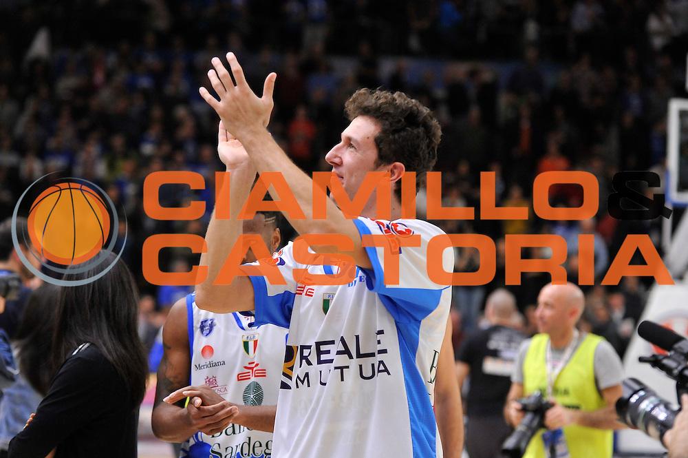 DESCRIZIONE : Sassari LegaBasket Serie A 2015-2016 Dinamo Banco di Sardegna Sassari - Giorgio Tesi Group Pistoia<br /> GIOCATORE : Giacomo Devecchi<br /> CATEGORIA : Ritratto Esultanza Postgame<br /> SQUADRA : Dinamo Banco di Sardegna Sassari<br /> EVENTO : LegaBasket Serie A 2015-2016<br /> GARA : Dinamo Banco di Sardegna Sassari - Giorgio Tesi Group Pistoia<br /> DATA : 27/12/2015<br /> SPORT : Pallacanestro<br /> AUTORE : Agenzia Ciamillo-Castoria/C.Atzori