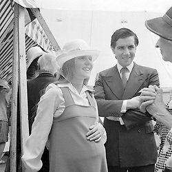 19 July 1974 - Luis and Lucy Basualdo at a wedding in Sussex.<br /> <br /> Photo by Desmond O'Neill/Desmond O'Neill Features Ltd.  +44(0)1306 731608  www.donfeatures.com