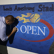 2016 U.S. Open - Day 9  Messages of thanks on the wall in the well of Louis Armstrong Stadium which hosted its final ever match on day nine of the 2016 US Open Tennis Tournament at the USTA Billie Jean King National Tennis Center on September 6, 2016 in Flushing, Queens, New York City.  (Photo by Tim Clayton/Corbis via Getty Images)