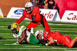 NORMAL, IL - October 16:  during a college football game between the NDSU (North Dakota State) Bison and the ISU (Illinois State University) Redbirds on October 16 2021 at Hancock Stadium in Normal, IL. (Photo by Alan Look)
