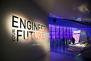Engineer Your Future interactive exhibit at the Science Museum in London, England, United Kingdom. The Science Museum was founded in 1857 with objects shown at the Great Exhibition of 1851. Today the Museum is world renowned for its historic collections, awe-inspiring galleries and inspirational exhibitions.