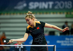 Mao Jingdian of China plays final match during Day 4 of SPINT 2018 - World Para Table Tennis Championships, on October 20, 2018, in Arena Zlatorog, Celje, Slovenia. Photo by Vid Ponikvar / Sportida