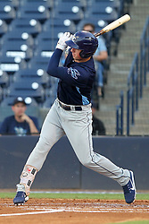 May 28, 2018 - Tampa, FL, U.S. - TAMPA, FL - MAY 23: Brendan McKay (31) of the Stone Crabs at bat during the Florida State League game between the Charlotte Stone Crabs and the Tampa Tarpons on May 23, 2018, at Steinbrenner Field in Tampa, FL. (Photo by Cliff Welch/Icon Sportswire) (Credit Image: © Cliff Welch/Icon SMI via ZUMA Press)
