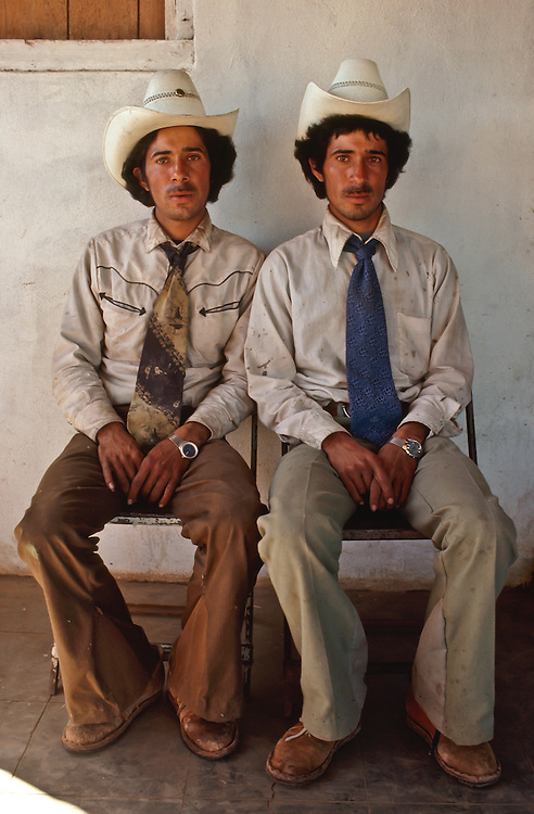 A portrait of two Mexican cowboys in Baja California.