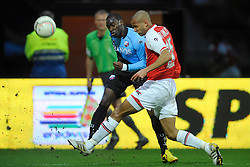 03-04-2010 VOETBAL: AZ - FC UTRECHT: ALKMAAR<br /> FC utrecht verliest met 2-0 van AZ / Loic Loval en Simon Poulsen<br /> ©2009-WWW.FOTOHOOGENDOORN.NL