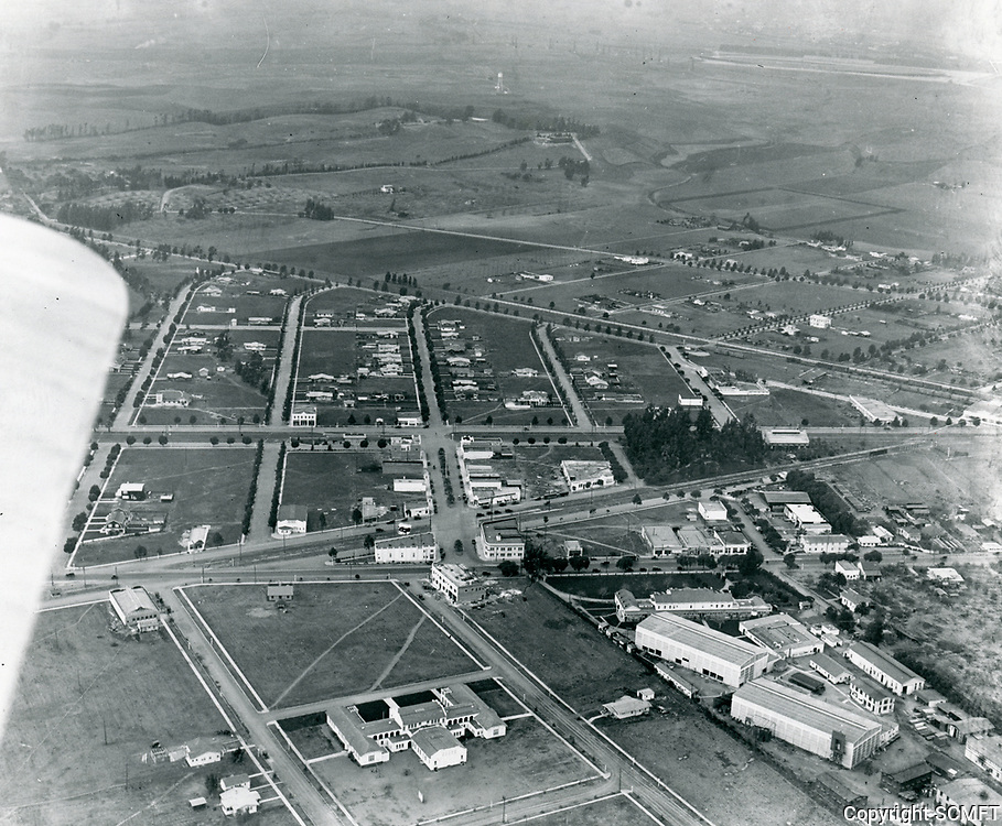 1920 Aerial of Thomas Ince's second studio in Culver City, CA