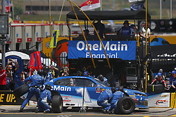 May 26, 2018 - Concord, North Carolina, United States of America - Elliott Sadler (1) brings his car down pit road for service during the Alsco 300 at Charlotte Motor Speedway in Concord, North Carolina. (Credit Image: © Chris Owens Asp Inc/ASP via ZUMA Wire)