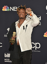 May 1, 2019 - Las Vegas, NV, USA - LAS VEGAS, NEVADA - MAY 01: Juice Wrld poses with the award for Best New Artist in the press room during the 2019 Billboard Music Awards at MGM Grand Garden Arena on May 01, 2019 in Las Vegas, Nevada. Photo: imageSPACE (Credit Image: © Imagespace via ZUMA Wire)