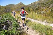 Trail runners, including Beatrice de Klerk, traversing the sandy tracks leading to the Attakwaskloof.