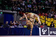 "Alexandra Agiurgiuculese by team italia of rhythmic gymnastics  during the ""7th tournament city of Desio"", 09 March 2019."