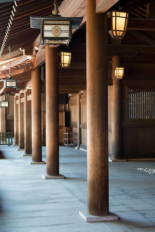 Walkway around the Meiji Shrine.