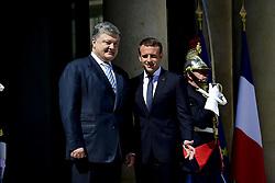June 26, 2017 - Paris, France, France - Emmanuel Macron - president de la Republique.Petro Porochenko - president de l Ukraine (Credit Image: © Panoramic via ZUMA Press)