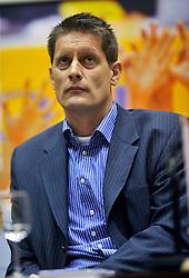 22-03-2011 VOLLEYBAL: PERSCONFERENTIE BONDSCOACH: ROTTERDAM<br /> Edwin Benne <br /> ©2011 Ronald Hoogendoorn Photography