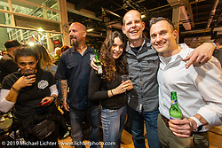 Friday night Rokker Apparel party during the Swiss-Moto Customizing and Tuning Show. Zurich, Switzerland. Friday, February 22, 2019. Photography ©2019 Michael Lichter.