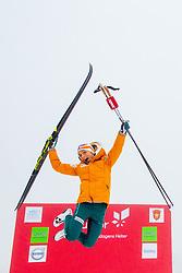 November 16, 2018 - Beitostolen, Norway - THERESE JOHAUG of Norway celebrates after winning the women's 10km classic technique interval start during Beitosprinten 2018. (Credit Image: © Vegard Wivestad Grott/Bildbyran via ZUMA Press)