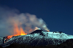 April 11, 2017 - Catania, Italy - Spectacular volcanic eruptions continue from Mount Etna in Italy.  (Credit Image: © Platania/Fotogramma/Ropi via ZUMA Press)