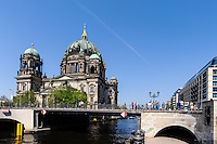 Berlin, Germany. The Museum Island with the Berliner Dom by the river Spree.