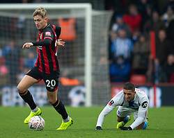 AFC Bournemouth's David Brooks takes on Brighton & Hove Albion's Anthony Knockaert