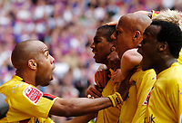 Photo: Daniel Hambury.<br />Crystal Palace v Watford. Coca Cola Championship. Play off Semi-Final, First Leg. 06/05/2006.<br />Watford's players celebrate their second goal.
