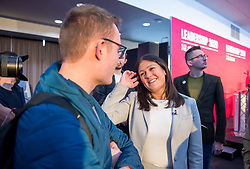 © Licensed to London News Pictures. 01/02/2020. Bristol, UK. LISA NANDY at the Labour Party Leadership Hustings, at Ashton Gate Stadium. Candidates: Emily Thornberry, Lisa Nandy, Kier Starmer, Rebecca Long-Bailey. Photo credit: Simon Chapman/LNP.
