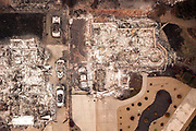 The destroyed home at Melene Court and Country Oak Drive, Thursday, Nov. 15, 2018, in Paradise, Calif. As of this morning, the Camp Fire has burned 140,000 acres. The wildfire is 40% contained. 56 people have died.