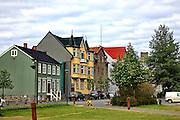 Iceland, Reykjavik, colourful home