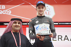 March 2, 2019 - Dubai, Emirati Arabi Uniti, Emirati Arabi Uniti - Foto LaPresse - Fabio Ferrari.02 Marzo 2019 Dubai (Emirati Arabi Uniti).Sport Ciclismo.UAE Tour 2019 - Tappa 7 - da Dubai Safari Park a City Walk - 145 km.Nella foto:  Stepan Kuriyanov (Gazprom - RusVelo)..Photo LaPresse - Fabio Ferrari.March 02, 2019 Dubai (United Arab Emirates) .Sport Cycling.UAE Tour 2019 - Stage 7 - From Dubai Safari Park to City Walk  - 90 miles..In the pic: The Black Jersey, sponsored by Abu Dhabi Aviation (Intermediate Sprint Jersey Classification) - Stepan Kuriyanov  (Credit Image: © Fabio Ferrari/Lapresse via ZUMA Press)