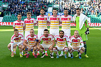 05/06/15 INTERNATIONAL CHALLENGE MATCH<br /> SCOTLAND v QATAR<br /> EASTER ROAD STADIUM - EDINBURGH<br /> The Scotland team line-up to face Qatar.<br /> Back Row (L-R) Shaun Maloney, James Forrest, Charlie Mulgrew, Craig Forsyth, Gordon Greer and David Marshall.<br /> Front Row (L-R) Matt Richie, Scott Brown (c), James McArthur, Ikechi Anya and Steven Naismith.