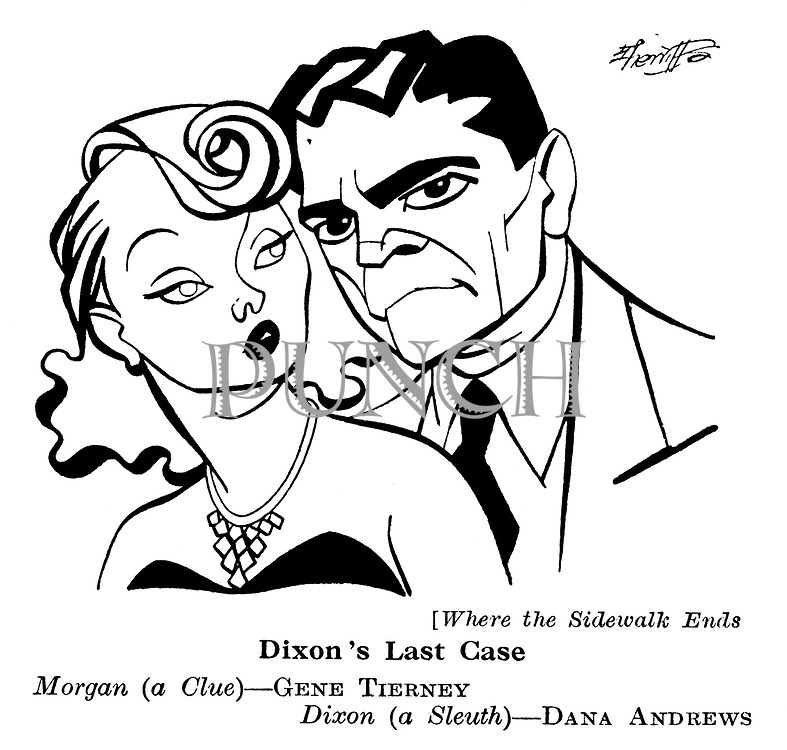 Where the Sidewalk Ends ; Dana Andrews and Gene Tierney