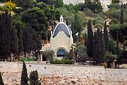 DOMINUS FLEVITCatholic - Franciscan OrderLocated on the Mount of Olives. Mt Olives, Jerusalem, Israel