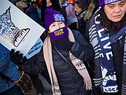 28 FEBRUARY 2020 - MINNEAPOLIS, MINNESOTA: Members of the SEIU Local 26 picket an entrance to the Minneapolis St. Paul International Airport. The strikers did not impact passengers or flights. About 4,000 janitorial and custodial workers represented by the Service Employees International Union (SEIU) Local 26 in the Twin Cities are on an Unfair Labor Practices (ULP) strike for better wages and benefits. Friday morning they picketed  the Minneapolis-St. Paul International Airport Friday morning.         PHOTO BY JACK KURTZ