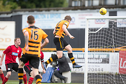 Alloa Athletic's Dylan Mackin scoring their fourth goal. Athletic 4 v 3 Brechin City (Brechin won 5-4 on penalties), Ladbrokes Championship Play-Off 2nd Leg at Alloa Athletic's home ground, Recreation Park, Alloa.