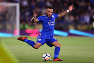 Danny Simpson of Leicester city in action .Premier league match, Leicester City v West Bromwich Albion at the King Power Stadium in Leicester, Leicestershire on Monday 16th October 2017.<br /> pic by Bradley Collyer, Andrew Orchard sports photography.