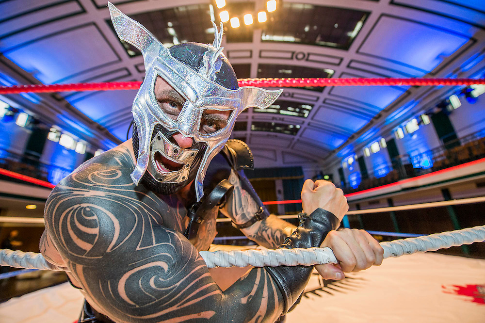"""Mexico's 'legends' and masked superheroes will gather in the UK to perform in """"The Greatest Spectacle of Lucha Libre"""", an three-day extravaganza with 'epic' live confrontations of Good vs. Evil. Starring the finest Mexican fighters, Bolivia's Fighting Cholitas and the UK's own Lucha Britannia, the weekend will also feature wild Cabaret acts, authentic Mexican street-food and Jose Cuervo tequila cocktails. On the 8th July, two films about Lucha Libre will premiere at a dedicated Film screening and Art exhibition. Over the three days, York Hall will be transformed into a retro-style Mexican Arena Each day will feature different shows, including matinees for family audiences, a massive Grand Finale, and more raucous Friday night cabaret spectacular. The show runs in Bethnal Green from 9th – 11th July 2015"""