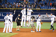 Tampa Bay Rays and the New York Yankees