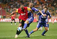 Fotball<br /> Frankrike<br /> Foto: Dppi/Digitalsport<br /> NORWAY ONLY<br /> <br /> FOOTBALL - UEFA CUP 2006/2007 - 1ST ROUND - 2ND LEG - RC LENS v ETHNIKOS ACHNAS - 28/09/2006<br /> <br /> DANIEL COUSIN (LENS) / DANIEL BLANCO (ETH)
