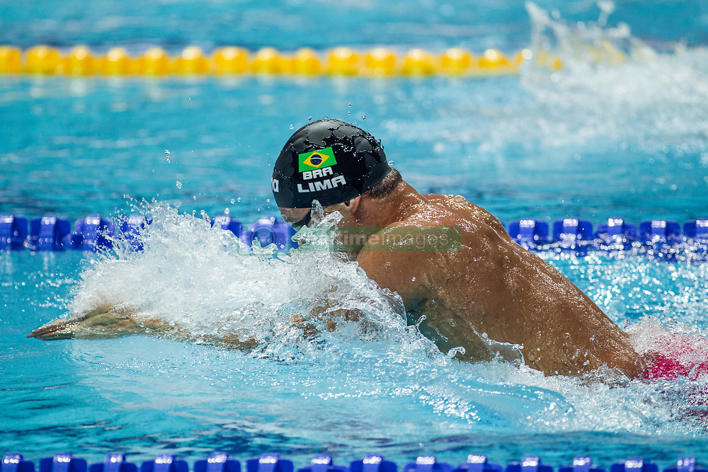 October 4, 2018 - Budapest, Hungary - Lima Felipe of Brazil competes in the Mans 100m Breastsroke on day one of the FINA Swimming World Cup held at Duna Arena Swimming Stadium on Okt 04, 2018 in Budapest, Hungary. (Credit Image: © Robert Szaniszlo/NurPhoto/ZUMA Press)