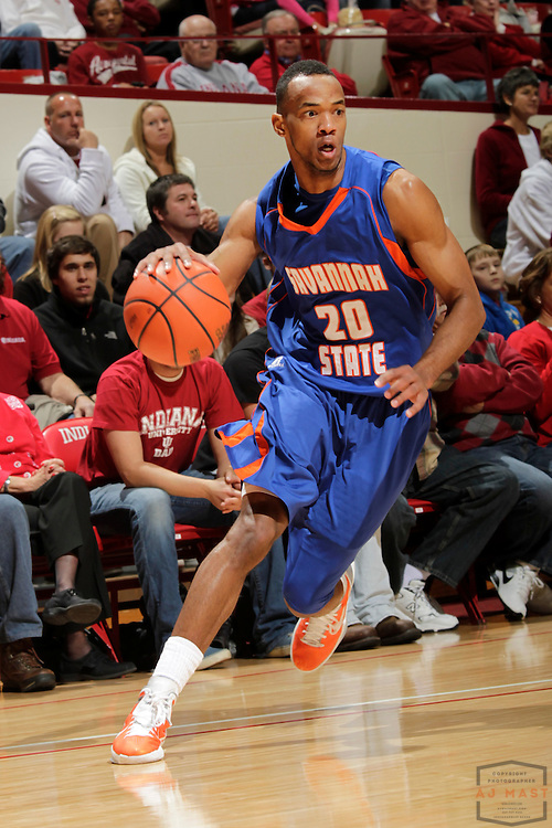 04 December 2010: Savannah State Tigers guard/forward Jovonni Shuler (20) as the Indiana Hoosiers played the Savannah State Tigers in a college basketball game in Bloomington, Ind.