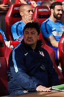 Atletico de Madrid´s second coach Mono Burgos during 2013-14 La Liga Atletico de Madrid V Espanyol match at Vicente Calderon stadium in Madrid, Spain. October 19, 2014. (ALTERPHOTOS/Victor Blanco)