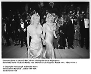 Courtney Love & Amanda de Cadenet  during the Oscar Night party hosted by Steve Tisch and Vanity Fair. Morton's. Los Angeles. March 1995. 95549/3<br /> © Copyright Photograph by Dafydd Jones<br /> 66 Stockwell Park Rd. London SW9 0DA<br /> Tel 0171 733 0108