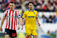Wimbledon defender Will Nightingale (5)  during the EFL Sky Bet League 1 match between Sunderland and AFC Wimbledon at the Stadium Of Light, Sunderland, England on 2 February 2019.